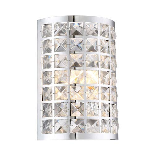 Damond Chrome One-Light Wall Sconce