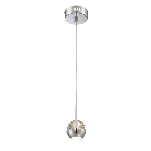 Draplin LED Chrome One-Light Mini Pendant