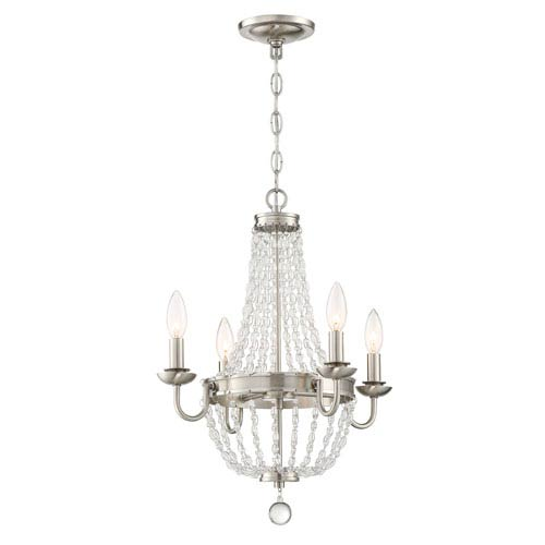Palila Brushed Nickel Four-Light Chandelier