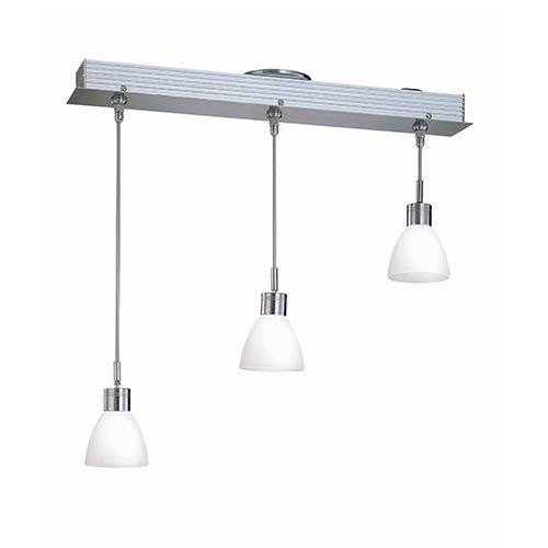 Lite Source Catina Polished Steel Three-Light Pendant