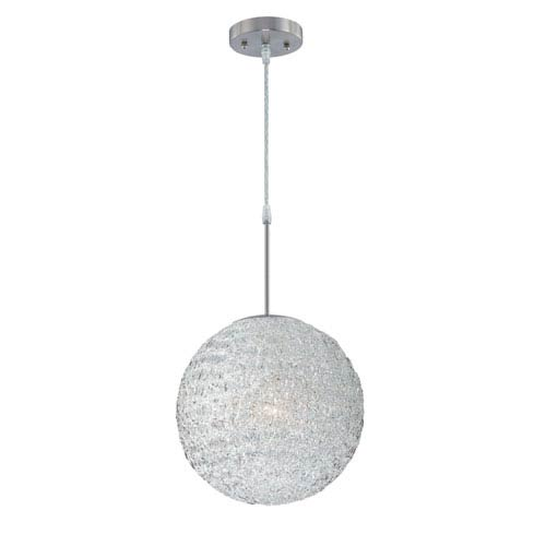 Lite Source Icy Polished Steel One-Light Pendant
