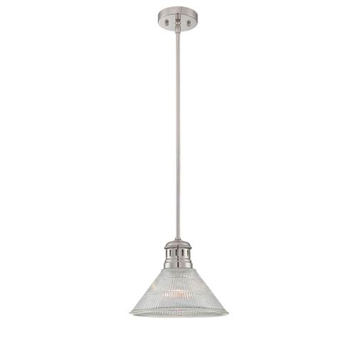 Lite Source Gale Polished Steel One-Light Pendant