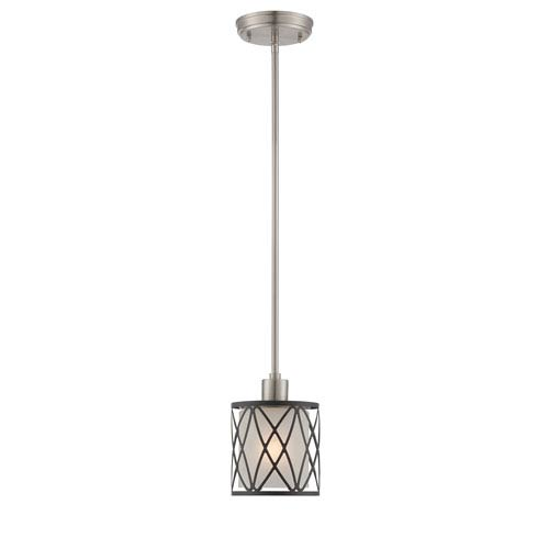 Quillon Polished Steel One-Light Mini Pendant
