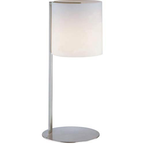 Velia Polished Steel Table Lamp