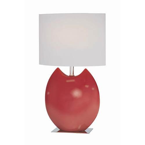 Spazio Red Ceramic Table Lamp