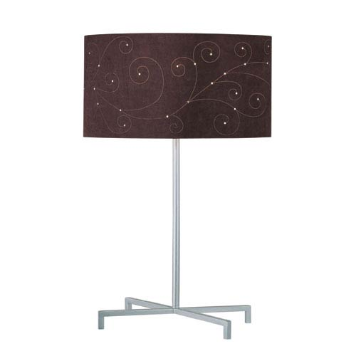 Lite Source Hemsk Silver One-Light Table Lamp