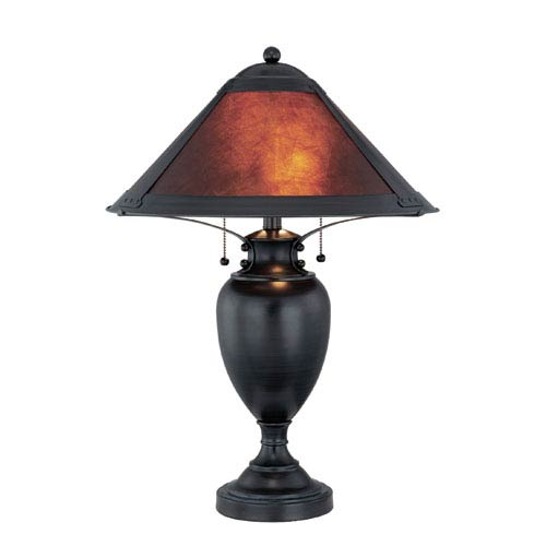 Lite Source Mischa Dark Bronze Two-Light Table Lamp