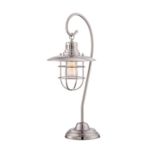 Lanterna II Polished Steel One-Light Table Lamp