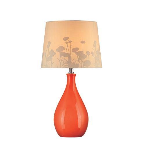 Lite Source Edaline Orange Ceramic Table Lamp