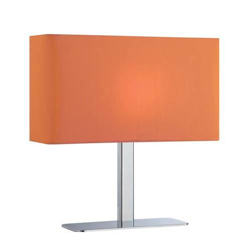 Levon Polished Chrome Table Lamp with Orange Shade