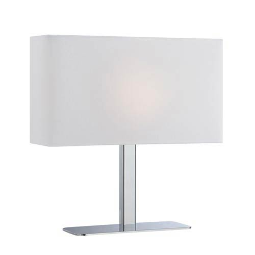 Levon Polished Chrome Table Lamp with White Shade