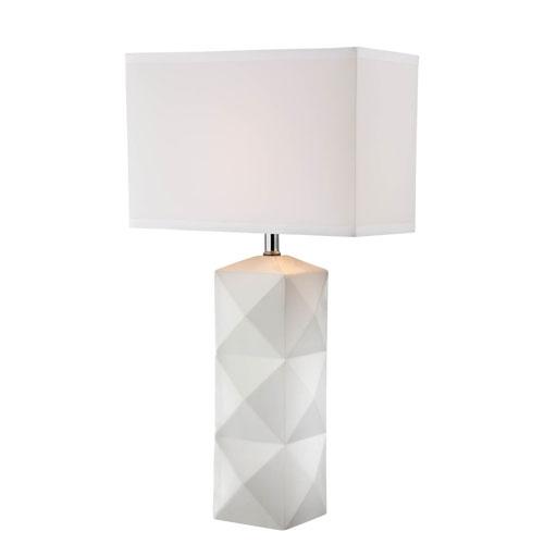 Lite Source Robena White One-Light Table Lamp