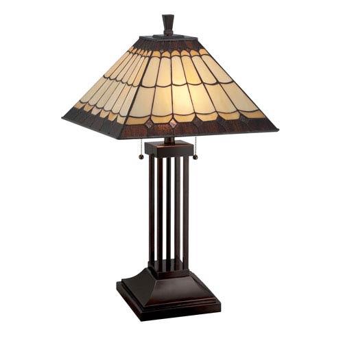 Lite Source Arty Dark Bronze Two-Light Table Lamp