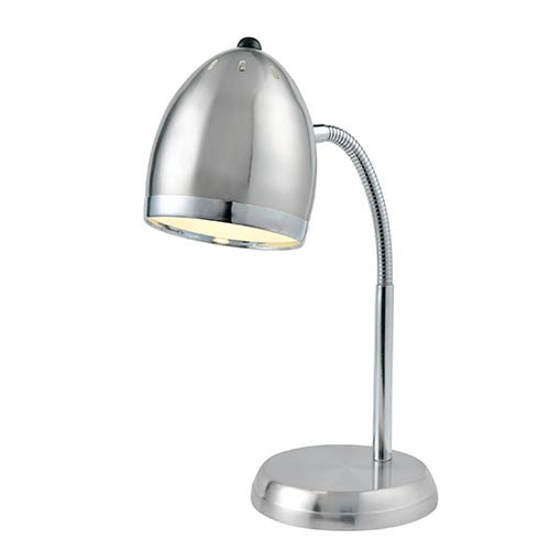Lite Source Zachary Polished Steel and Chrome One-Light Fluorescent Desk Lamp