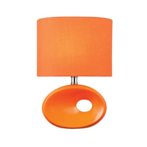 Hennessy II Orange One-Light Table Lamp