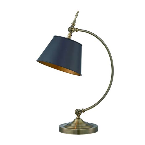 Lite Source Hassan Antique Brass One-Light Fluorescent Table Lamp