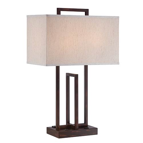 lite source arty bronze two light table lamp ls 22260 22260