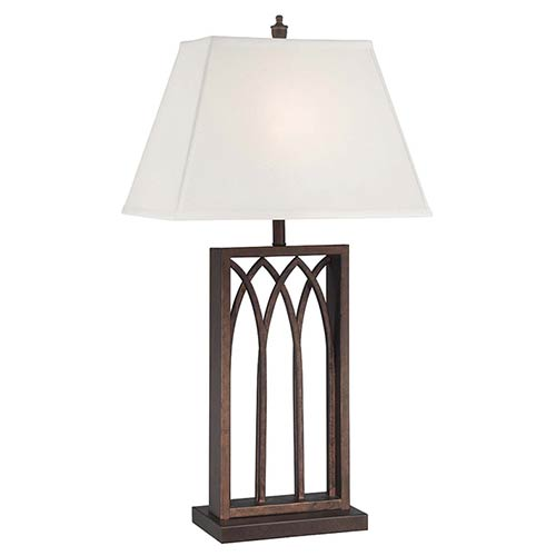 Lite Source Cambridge Antique Bronze One-Light Fluorescent Table Lamp