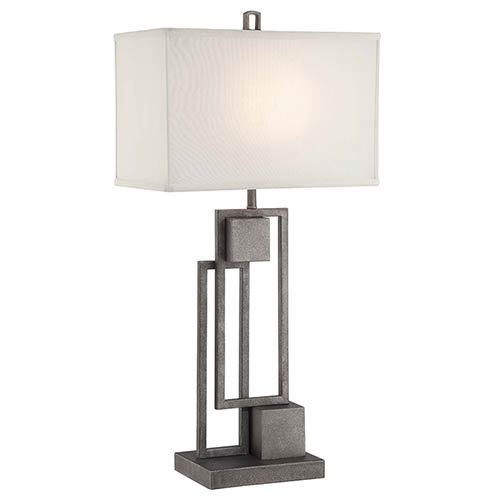 Lite Source Volterra Antique Patina One-Light Fluorescent Table Lamp