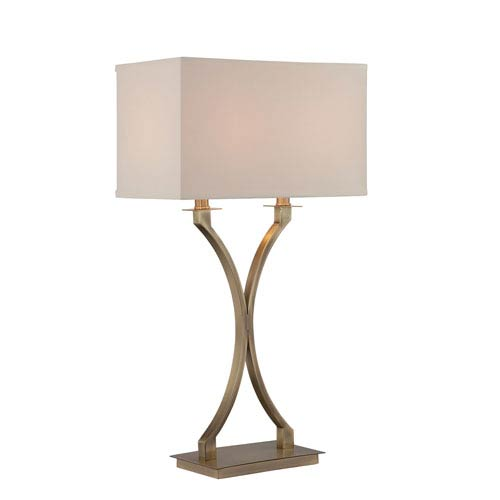 Cruzito Antique Brass 29-Inch Two-Light Table Lamp