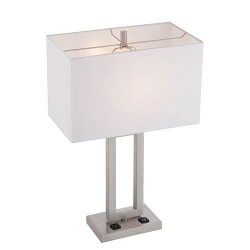 Lite Source Fiadi Polished Steel One-Light Table Lamp