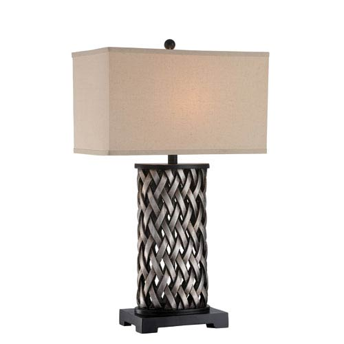 Lite Source Sadler Aged Silver One-Light Table Lamp