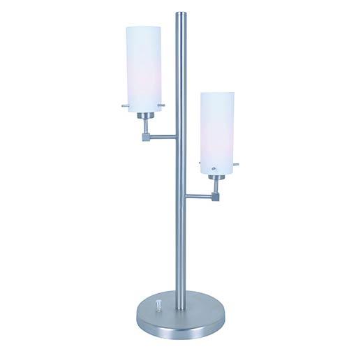 Lite Source Scarlett Polished Steel Two-Light Fluorescent Table Lamp