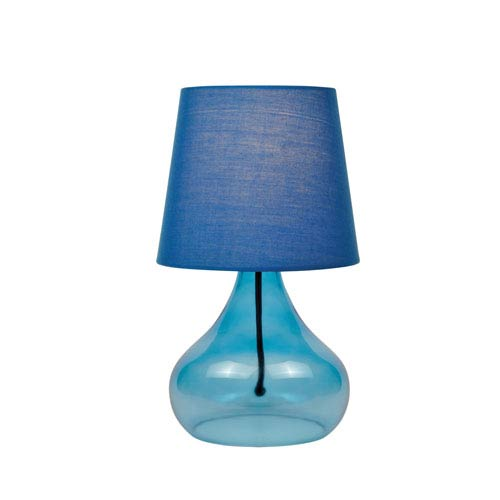 Jamie Blue Glass 14-Inch One-Light Table Lamp