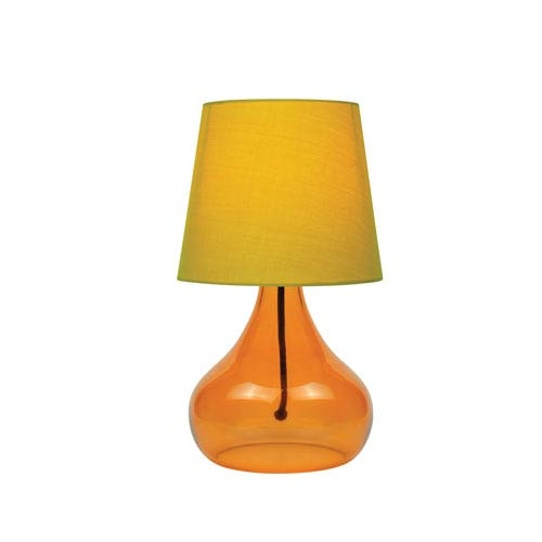 Jamie Orange Glass 14-Inch One-Light Table Lamp