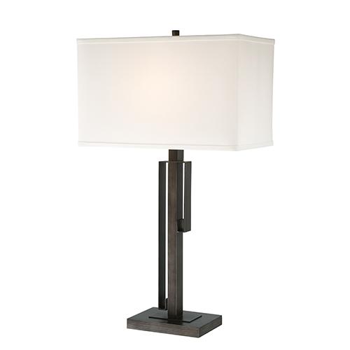 Lite Source Kurtis Brushed Black One-Light Table Lamp
