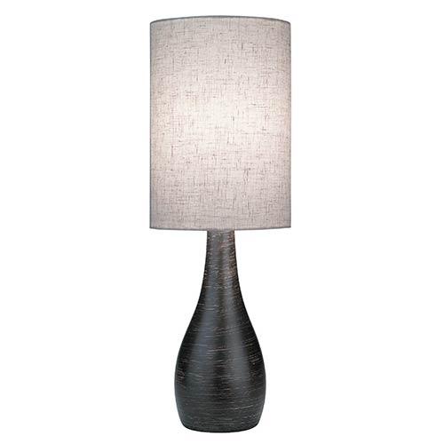 Quatro Brushed Dark Bronze 6-Inch Dia One-Light Fluorescent Table Lamp