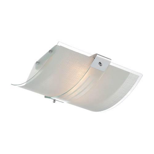 Lite Source Vicenzo Chrome Two-Light Flush Mount Light Fixture