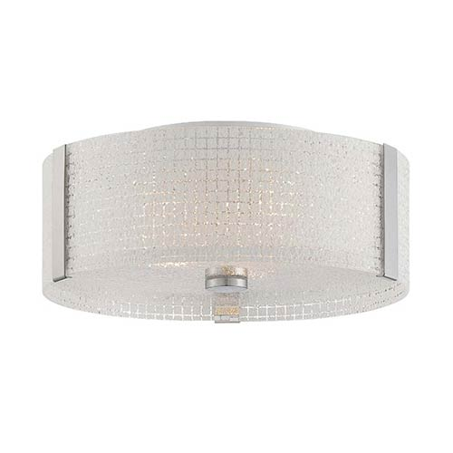 Lite Source Chrome Three-Light Flush Mount