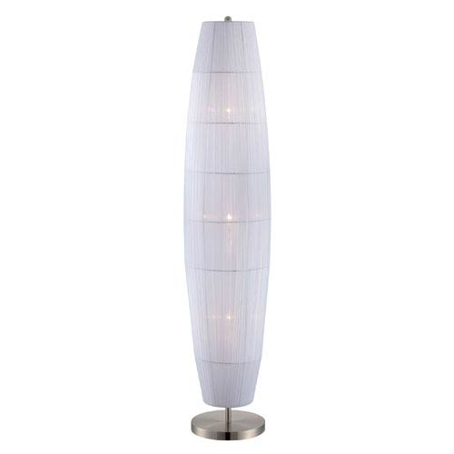 Lite Source Parvati Polished Steel Three-Light Floor Lamp