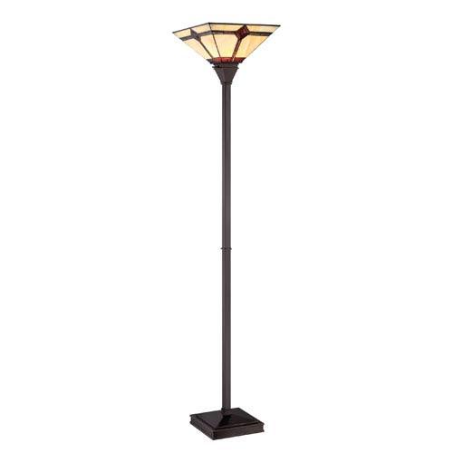 Lite Source Karysa Dark Bronze One-Light Torchiere Lamp