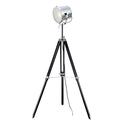 Lite Source Trey Chrome One-Light Floor Lamp