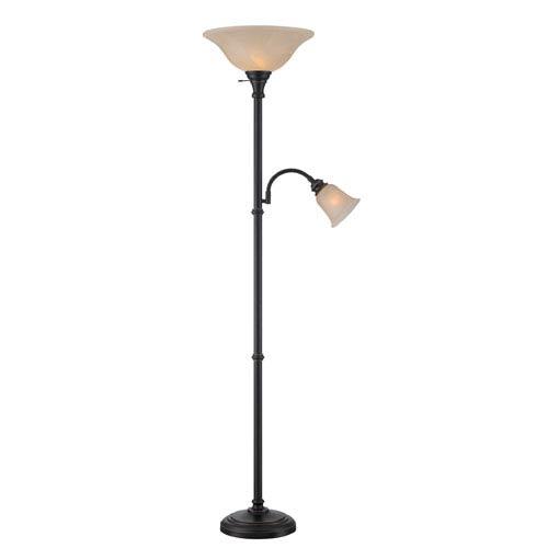 Henley Dark Bronze Fluorescent Two-Light Floor Lamp