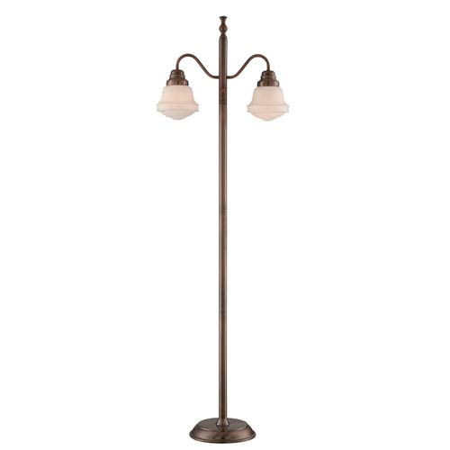 Towne Antique Copper 63-Inch Two-Light Floor Lamp