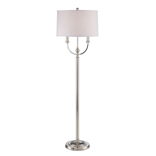Camila Polished Steel 58-Inch One-Light Floor Lamp