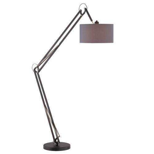 Kailano Black 85-Inch One-Light Floor Lamp