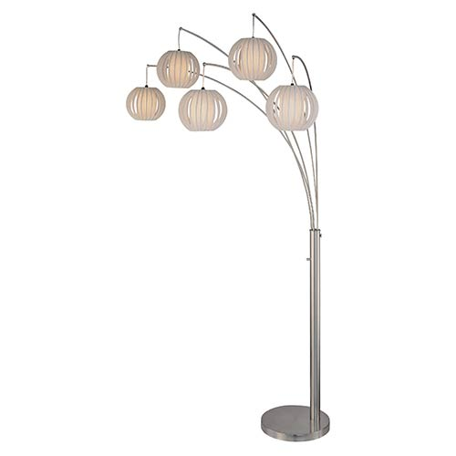 Lite Source Deion Polished Steel Five-Light Floor Lamp