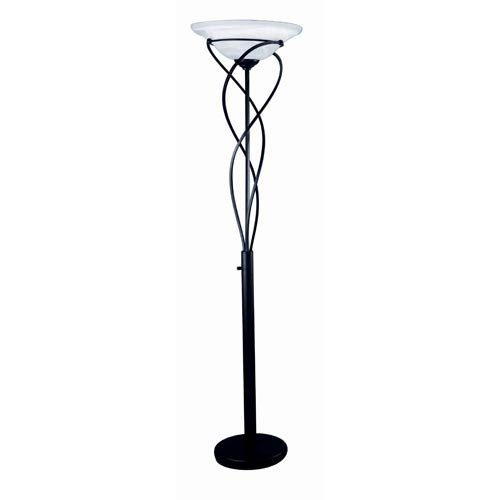 Majesty Black Large Swirl Torchiere