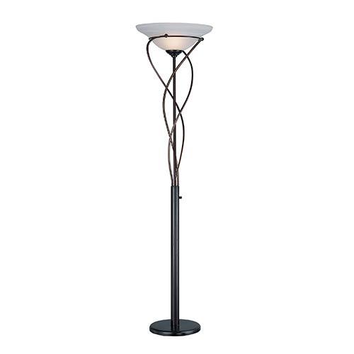 Majesty Dark Bronze One-Light Torchiere Lamp