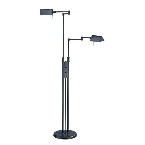 Lite Source Pharma Dark Bronze Two-Light Floor Lamp