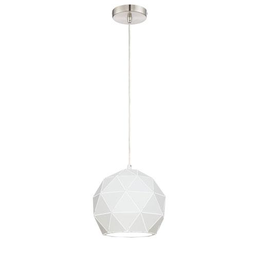 Pandora White 9-Inch One-Light Pendant
