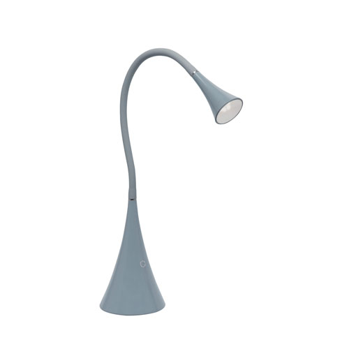 Xena Gray LED Desk Lamp
