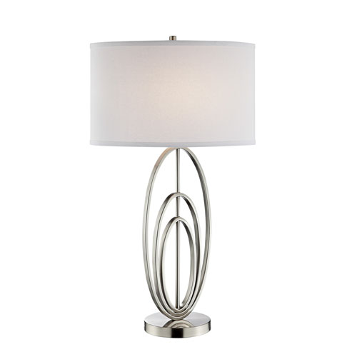 Bailee Brushed Nickel One-Light Table Lamp