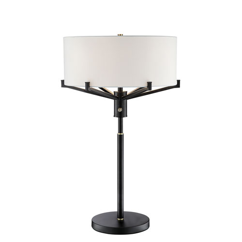 Jerod Two-Toned Black Three-Light Table Lamp
