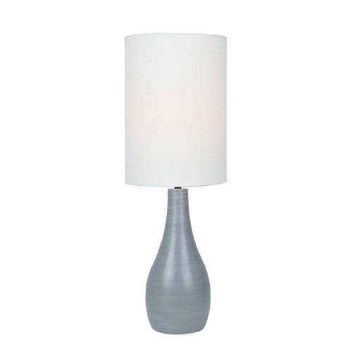 Lite Source Quatro Brushed Grey One-Light Fluorescent Table Lamp