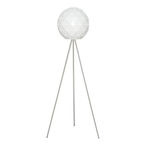 Lite Source Pandora White 25-Inch One-Light Floor Lamp